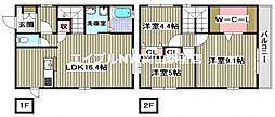 [一戸建] 岡山県岡山市北区東古松1丁目 の賃貸【/】の間取り