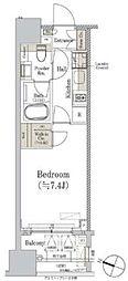 東京メトロ丸ノ内線 淡路町駅 徒歩3分の賃貸マンション 7階1Kの間取り