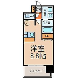 プレサンス桜通グレイス[206号室]の間取り