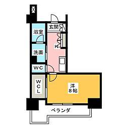 グラン・アベニュー鶴舞公園 11階1Kの間取り