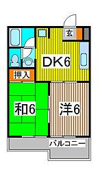 ロキシーモンシャトー[3階]の間取り