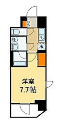 東京メトロ千代田線 北綾瀬駅 徒歩1分の賃貸マンション 2階1Kの間取り