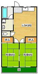 松尾コーポ[102号室]の間取り