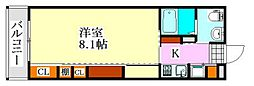 千葉県習志野市鷺沼台3の賃貸アパートの間取り