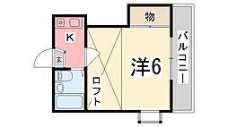 兵庫県姫路市城北新町1丁目の賃貸アパートの間取り