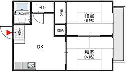 KMKハイツ 額田町 新石切12分[1階]の間取り