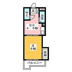 レジデンス石坂[2階]の間取り