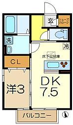 ベラカーサ5[1階]の間取り