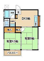 小川荘[2階]の間取り