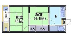 三喜荘[2階]の間取り