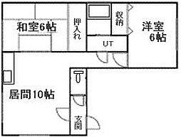 札幌市電2系統 石山通駅 バス10分 南30条西10丁目下車 徒歩4分の賃貸マンション 4階2LDKの間取り