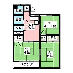 成田コーポ[1階]の間取り