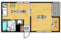 オリーブマンション[203号室]の間取り