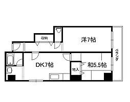 御所西シンワマンション[605号室]の間取り