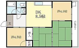 北川マンション[3階]の間取り