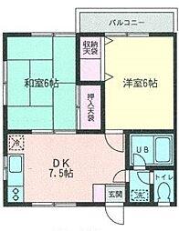 神奈川県横浜市泉区和泉中央南2丁目の賃貸アパートの間取り