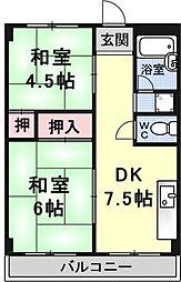 瀬田サンプラザマンション[206号室号室]の間取り