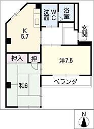 田代ハイム[3階]の間取り