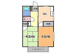 栃木県宇都宮市東浦町の賃貸アパートの間取り