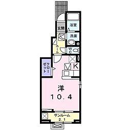 プランドール新庄Ⅲ[1階]の間取り
