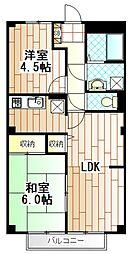 神奈川県相模原市南区南台3丁目の賃貸アパートの間取り