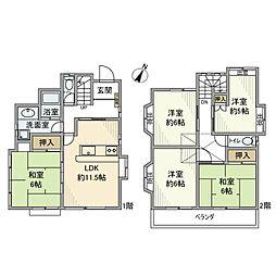 [一戸建] 千葉県松戸市八ケ崎3丁目 の賃貸【/】の間取り