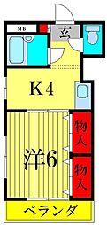 ジュネパレス新松戸第47[2階]の間取り