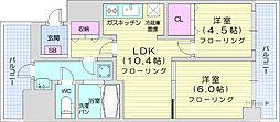 仙台市営南北線 五橋駅 徒歩7分の賃貸マンション 5階2LDKの間取り