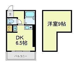 センシブル天王寺[6階]の間取り