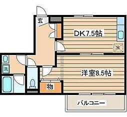 ビーチサイド・マンション[3階]の間取り