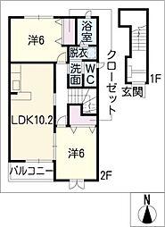 マーサT III棟[2階]の間取り