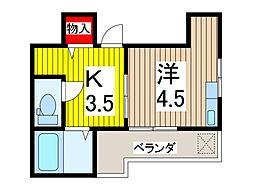 東本郷アパート[2階]の間取り