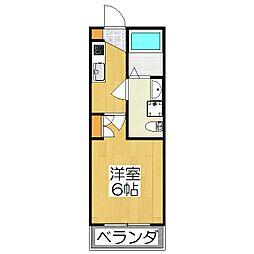 THE GARNET SUITE RESIDENCE深草[205号室]の間取り