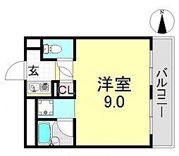 平野エアクリアロイヤルハイツ[7O6号室号室]の間取り
