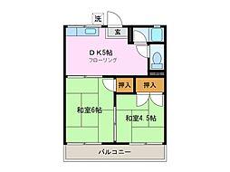 三重県鈴鹿市国府町の賃貸マンションの間取り