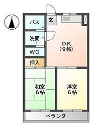 メゾンヴェステン[2階]の間取り