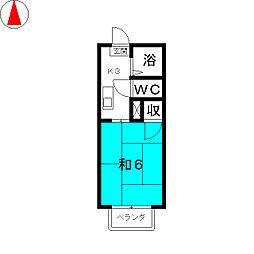 サンビレッジ II[1階]の間取り