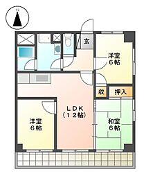 ホワイトハウスIII[3階]の間取り