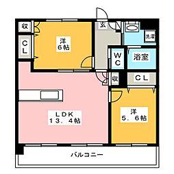 クリムゾン博多II[2階]の間取り