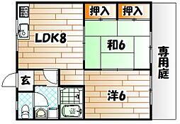 オアシス藤松[1階]の間取り