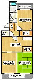 グリーンタウン宇田川[3階]の間取り