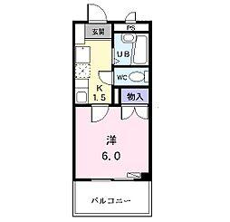 プレステージ野田[203号室]の間取り