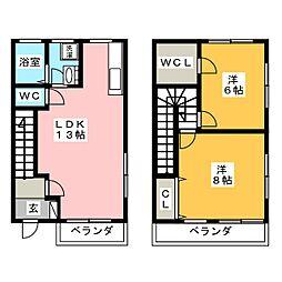 ガーデニア21B棟[2階]の間取り