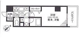 アチェロ文京本駒込 2階1Kの間取り