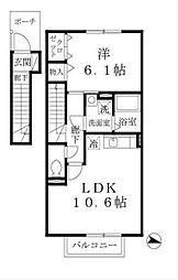 滝つじハイム[2階]の間取り