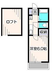 東京都西東京市西原町5丁目の賃貸アパートの間取り