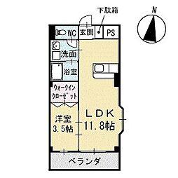Mハウス2 2階[201号室]の間取り