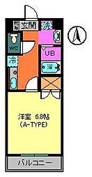 トレセリア暁町[3階]の間取り