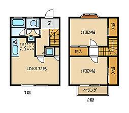 [テラスハウス] 神奈川県茅ヶ崎市円蔵 の賃貸【/】の間取り