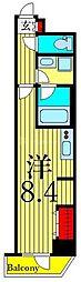 東京メトロ日比谷線 入谷駅 徒歩7分の賃貸マンション 8階ワンルームの間取り